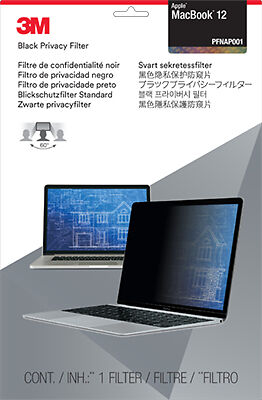 New 3M Privacy Filter For Apple Apple Macbook 12-inch  - Black, Translucent