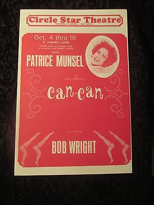 "Original 1965 Handbill Flyer Circle Star Theatre Patrice Munsel ""Can-Can"""