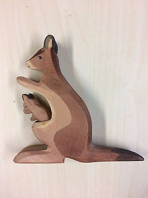 Kangaroo with Joey Wooden Decorative Ornament