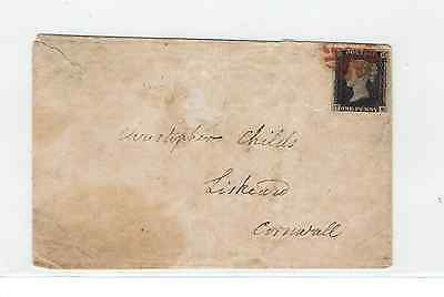 Postal History-Penny Black [Almost 4 Margins] On Scruffy Cover Ex-London 4.1.41