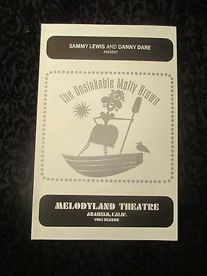 "1963 Handbill Flyer Melodyland Anaheim Jane Powell ""The Unsinkable Molly Brown """