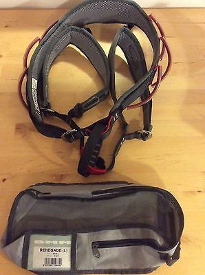 DMM Renegade Climbing Harness Large Red/Grey