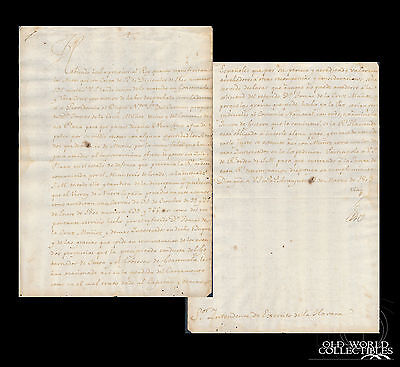 1802 Colonial Spain ~ manuscript; Transport of Troops Mexico to Guatemala