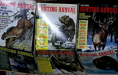 6 vintage SPORTS AFIELD HUNTING ANNUALS -