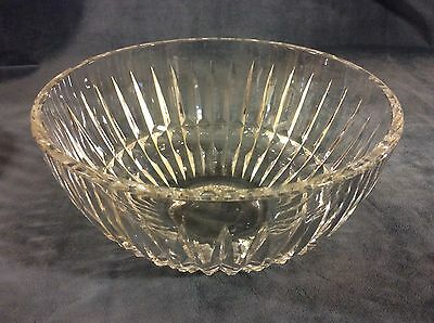 Crystal Bowl Signed Waterford 8 Inch Clear