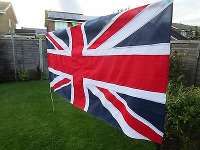 """Vintage Ex British Military UNION JACK FLAG stitched panel approx 7ft x 3ft 6"""""""