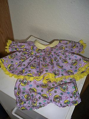 """Easter Dress/matching bloomers for 16"""" Cabbage Patch, or Bear"""