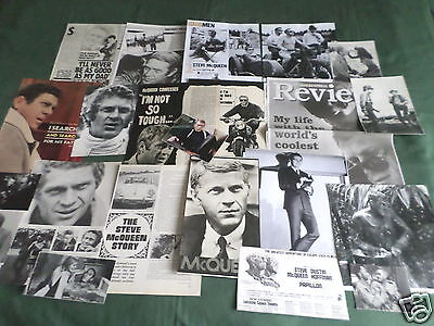 "Steve Mcqueen - Film Star - ""clippings /cuttings Pack"" -#2"