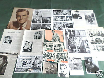"""Kenneth More - Film Star - """"clippings /cuttings Pack"""""""