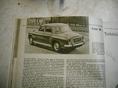 ROVER 80  road test in this old autocar mag.