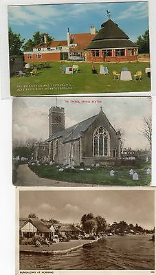 10 elderly Norfolk  postcards. (Trowse Newton/Horning/Acle,Thetford...)