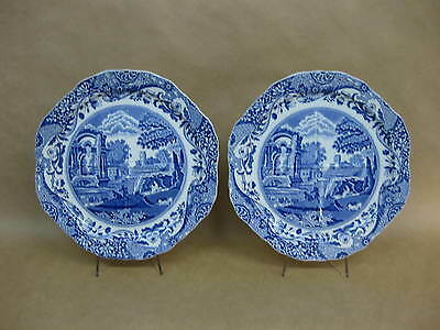 2 Copeland Spode's Italian Sectional Plates ~ Blue & White Cake /Divided Plates