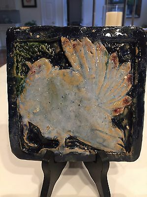 RUSSELL CROOK RARE Grueby Art Pottery Tile Arts & Crafts WHY WATCH? BUY !