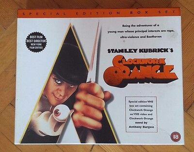 Clockwork Orange Special Edition Boxset - VHS tape and Novel by Anthony Burgess
