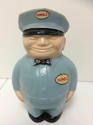 Humble Gas Fat Man Bank Vintage 1950's-60's Attendant, Oil Man Giveaway Toy