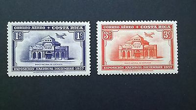 1937 - Costa Rica Airmail stamps - mint