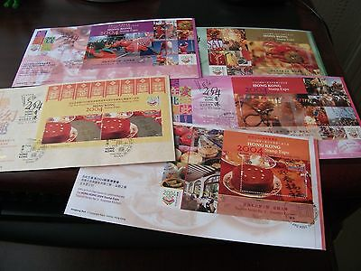 hong kong 2004 stamp expo m/s set of 5 fdc high cat nice lot