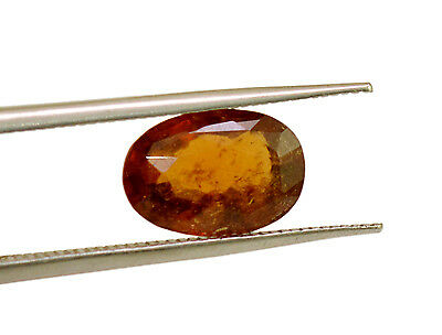 4ct Natural Fine Gem Quality Transparent Ceylon Rare Hessonite Garnet Gemstone