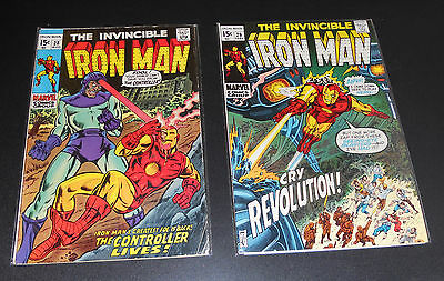 IRON MAN v1 comic lot 28-29 - Controller - Archie Goodwin, Don Heck