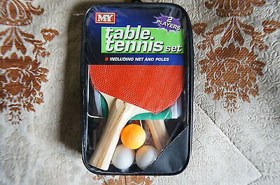 M.Y Table Tennis Set For 2 Players Including, Bats, Balls, Net And Poles (HL167)