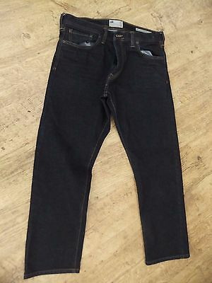Mens M&s North Coast Relaxed Jeans - Dark Blue - 34W 29L