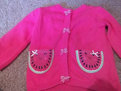 New Girls Pink Cardigan Size 6-9 Months From Tu