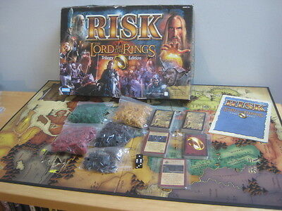 Risk Board Game The Lord Of The Rings Trilogy Edition Incomplete