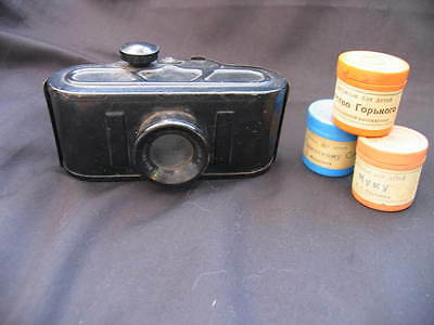 Vintage Russian Film Viewer And Films