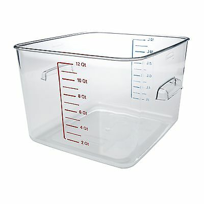 Rubbermaid Commercial Carb-X Space Saving Square Food Storage Container 12-Qu...