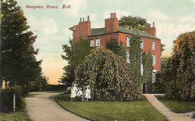 "Old Postcard ""hampden House, Brill"" Buckinghamshire  Posted Brill 1908"