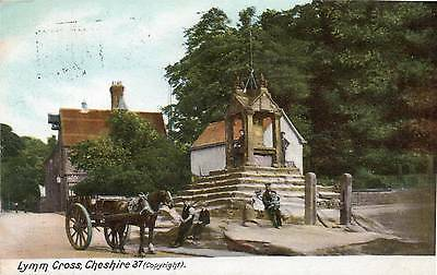 """OLD POSTCARD """"LYMM CROS, CHESHIRE"""" Posted 1905"""