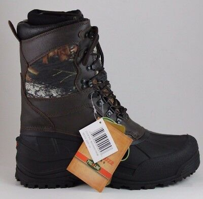 """Pro Line Men's Winchester 9"""" PAC Boot with removable insole Brown Mossy Oak"""