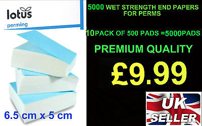 5000  lotus WET STRENGTH END PAPERS FOR PERMS Hair Salon Supply Perm 10 PACKS