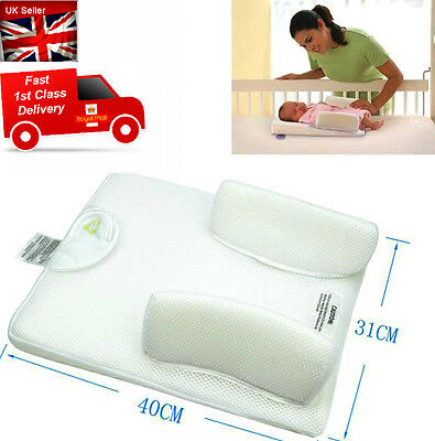 Baby Infant Newborn Soft Sleep Positioner Prevent Flat Head Anti Roll Pillow