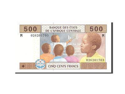 [#113409] Central African States, 500 Francs, 2002, KM:606C, Undated, UNC(65-70)