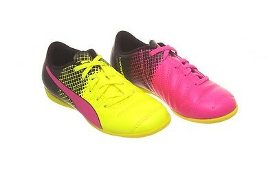 Puma Youth Evopower 4.3 TRICKS IT Jr Indoor Soccer Shoe (10362601) PINK YELLOW