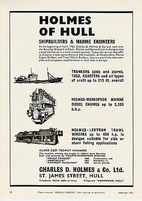 1965 Vintage / Original Classic Advert - Holmes Of Hull - Charles D. Holmes & Co