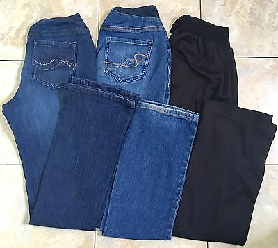 Lot Of 3 Two Hearts Maternity by Destination Maternity Jeans Black Dress Pants