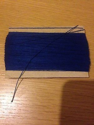 Strong sewing thread 50 metres blue unsnapable COTTON  0.5 MM BUT 2 GET 3RD FREE
