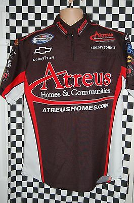 David Stremme #62 ATREUS Rusty Wallace Inc Pit Shirt NASCAR RACE USED SIZE Large