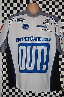 Trevor Bayne #99 OUT Pet Care Pit Shirt NASCAR Race Used SIZE Large