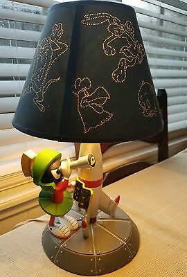 Extremely Rare Looney Tunes Marvin the Martian w/ Rocket Ship & Telescope​ Lamp