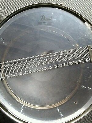 Pearl SS Steel Shell Snare Drum with Key  Mirror  From Pearl Drum Set