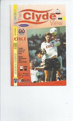 Clyde v Huntly Scottish Cup Replay Football Programme 1996/97 December 16th