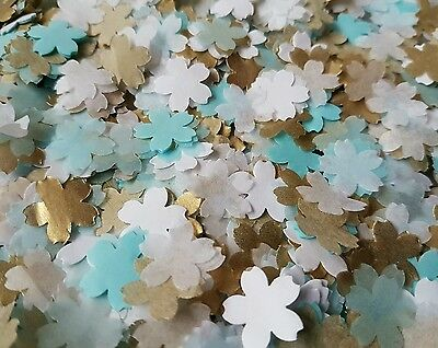 1200 Gold& Blue&white Cherry Flowers  Wedding Throwing Confetti/table Decoration