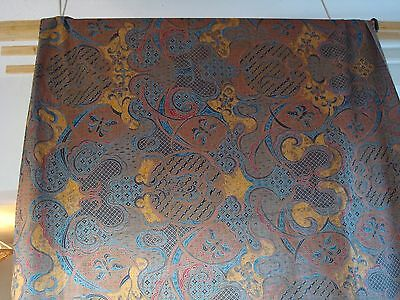 """New And Unused Printed Fabric From India? Indonesia? 92"""" X 41"""""""