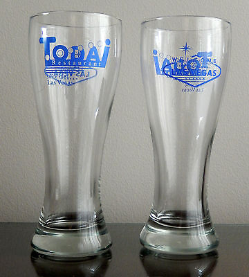 Todai Restaurant Las Vegas / Planet Hollywood / Beer Glasses Set of 2