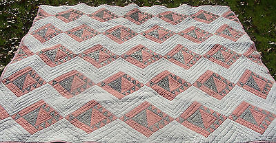 """1930s all hand quilted Basket quilt, 71"""" x 66"""", no reserve *"""