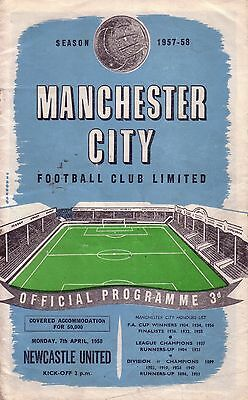 MANCHESTER CITY v NEWCASTLE 1957/58 DIVISION 1