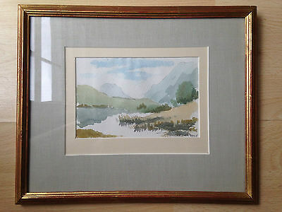 original watercolor painting by listed artist William Dring R.A.(1904-1990) 1974